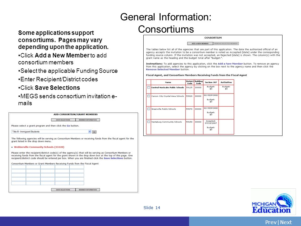 General Information: Consortiums