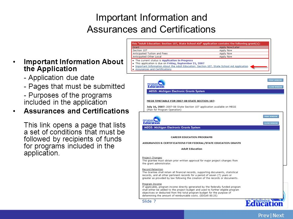 Important Information and Assurances and Certifications
