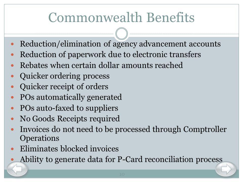 Commonwealth Benefits