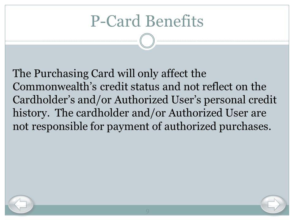 P-Card Benefits