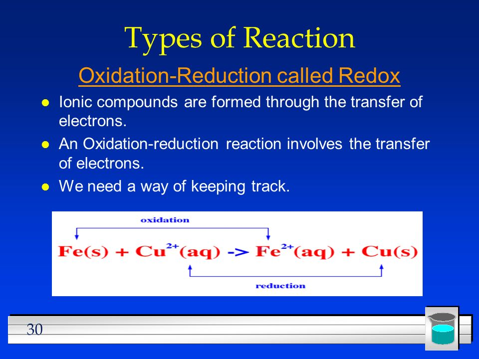 Oxidation-Reduction called Redox