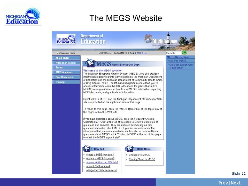 The MEGS Website