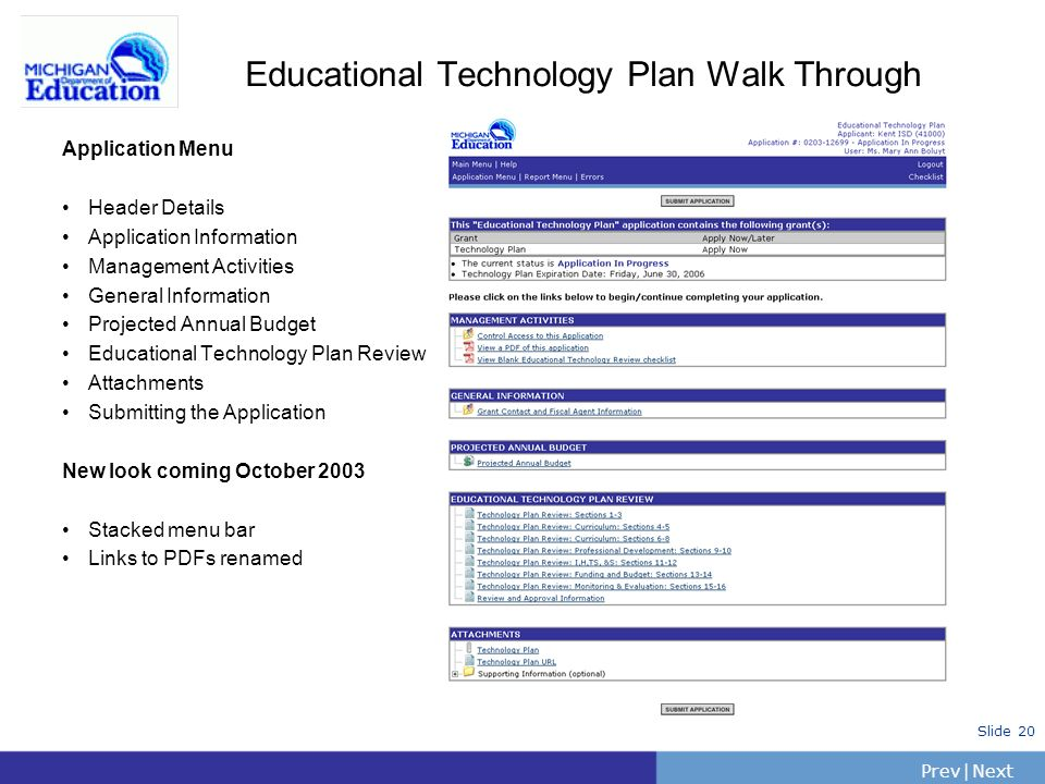 Educational Technology Plan Walk Through