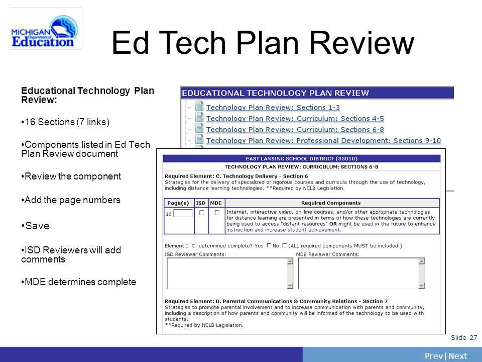 Ed Tech Plan Review Save Educational Technology Plan Review: