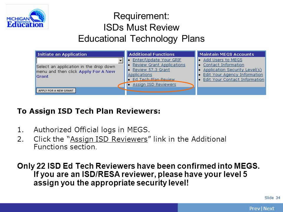 Requirement: ISDs Must Review Educational Technology Plans