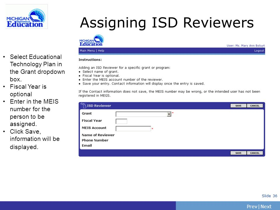 Assigning ISD Reviewers