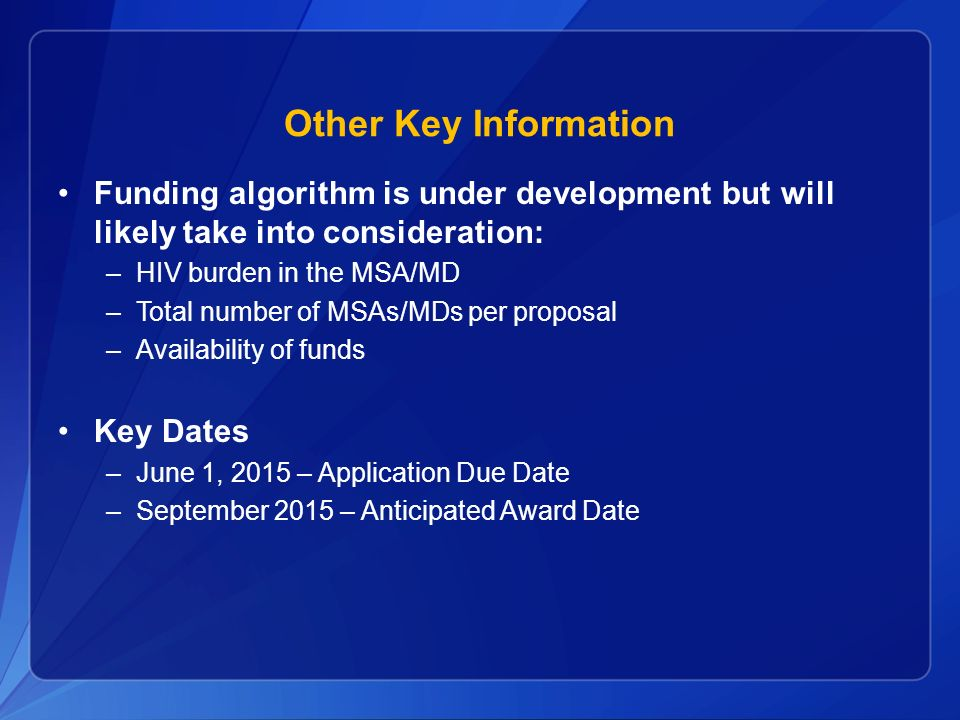 Other Key Information Funding algorithm is under development but will likely take into consideration:
