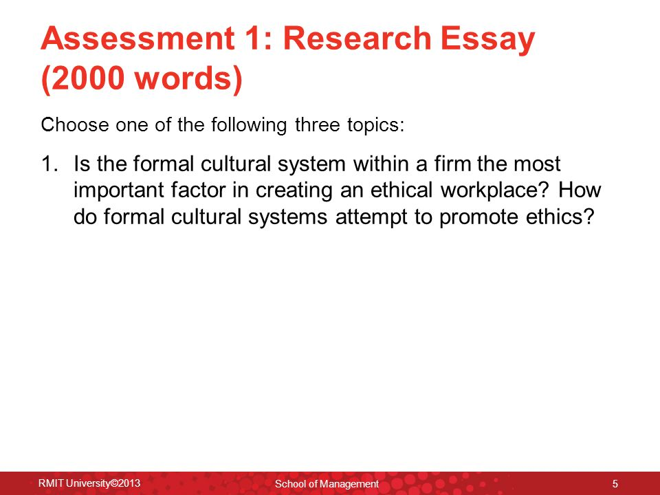 ethics governance lecture introduction to ethics governance  assessment 1 research essay 2000 words