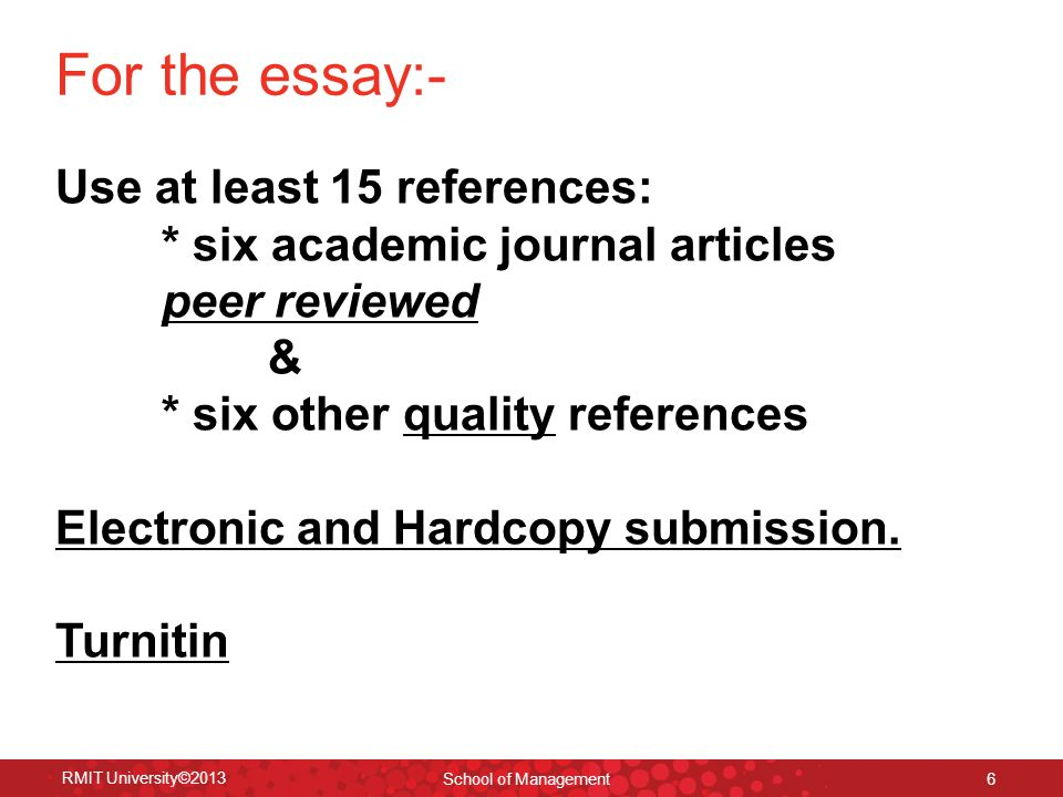 references for essays