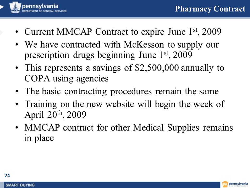 Current MMCAP Contract to expire June 1st, 2009