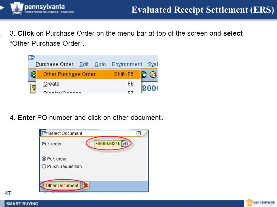 Evaluated Receipt Settlement (ERS)