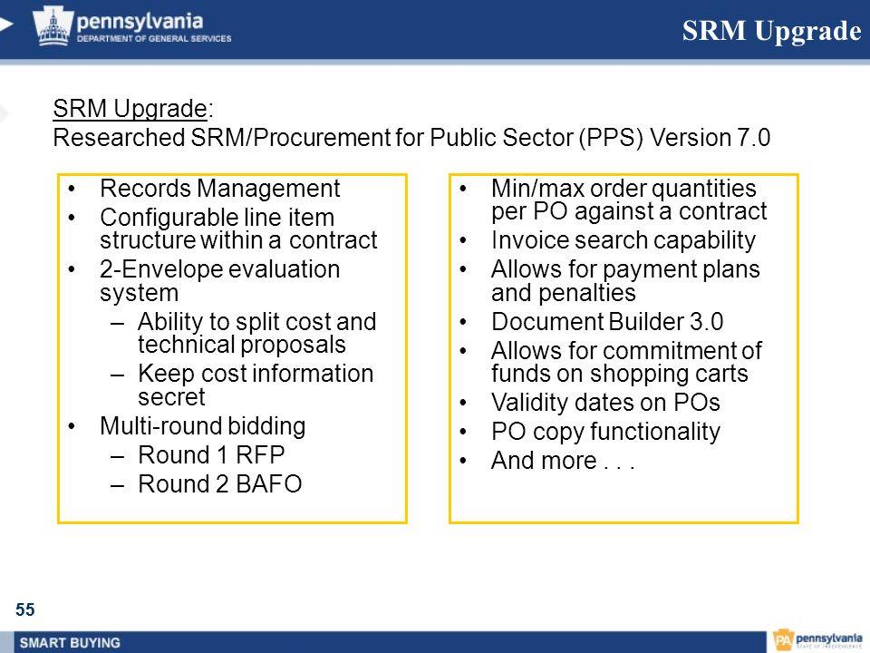 SRM Upgrade SRM Upgrade: