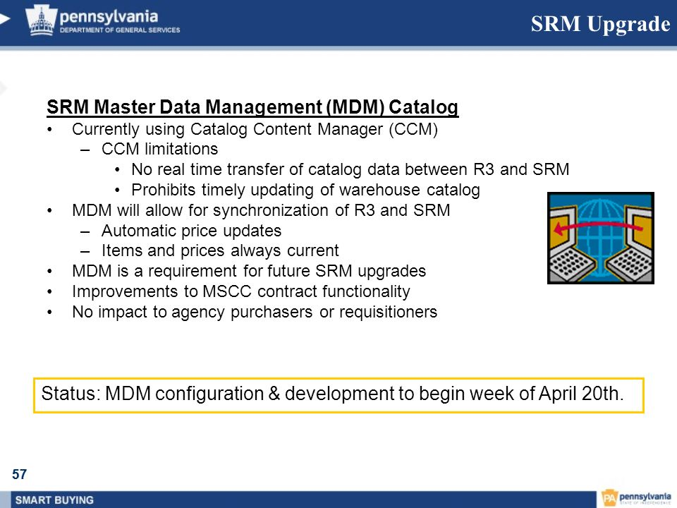SRM Upgrade SRM Master Data Management (MDM) Catalog