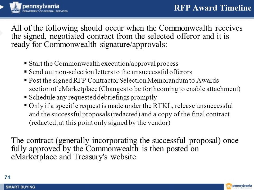RFP Award Timeline