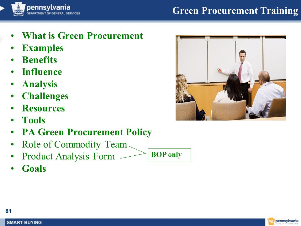 Green Procurement Training