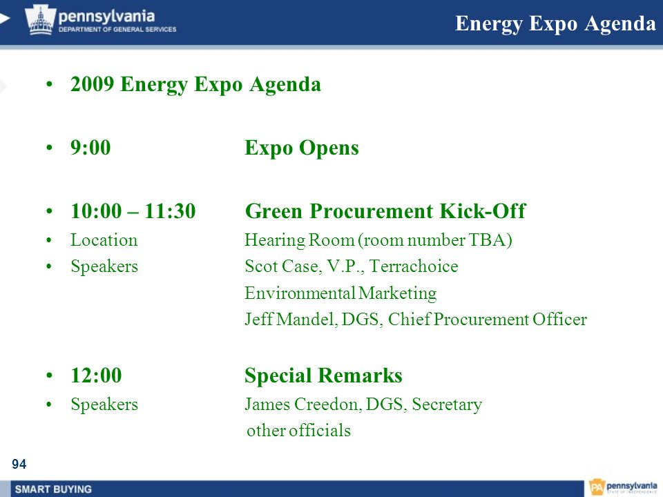 10:00 – 11:30 Green Procurement Kick-Off