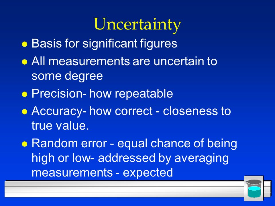 Uncertainty Basis for significant figures