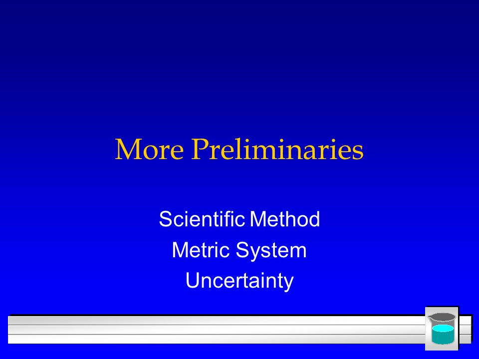 Scientific Method Metric System Uncertainty
