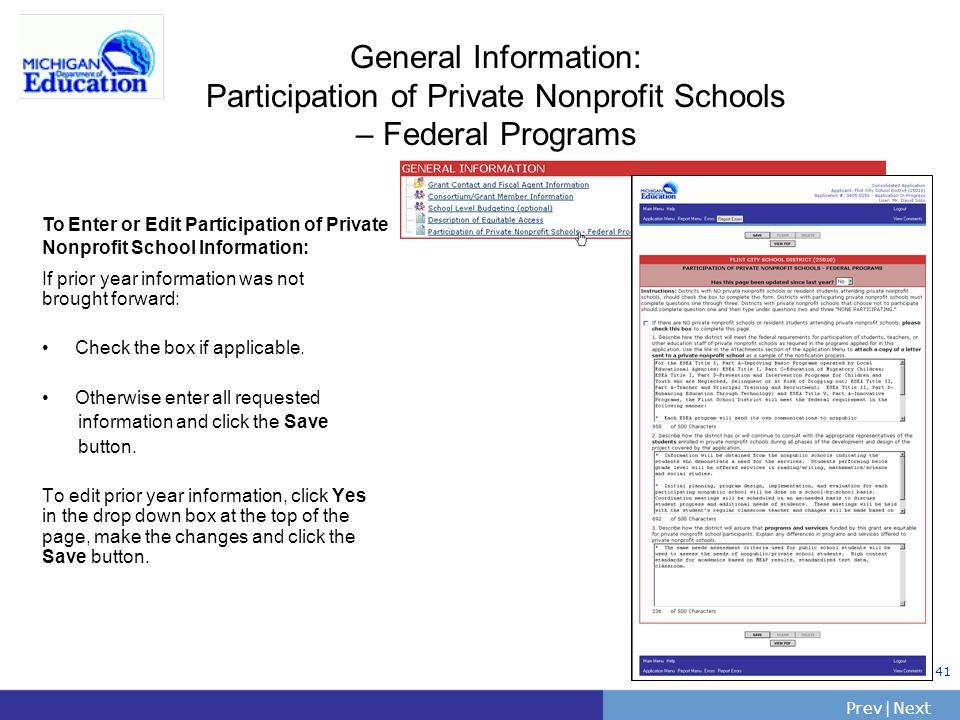 General Information: Participation of Private Nonprofit Schools – Federal Programs