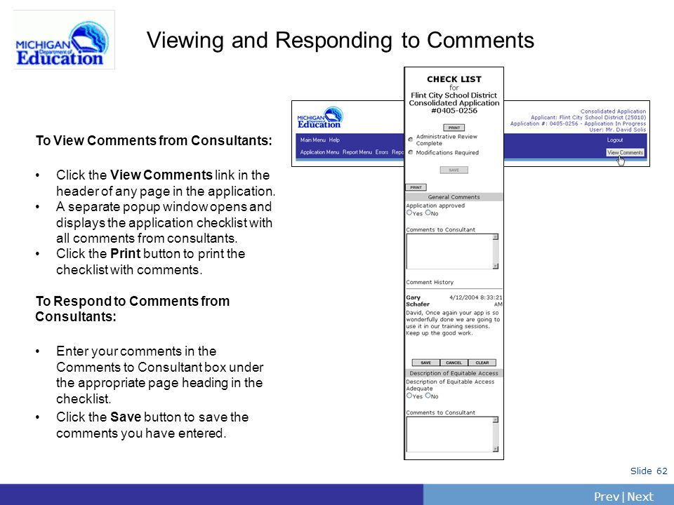 Viewing and Responding to Comments