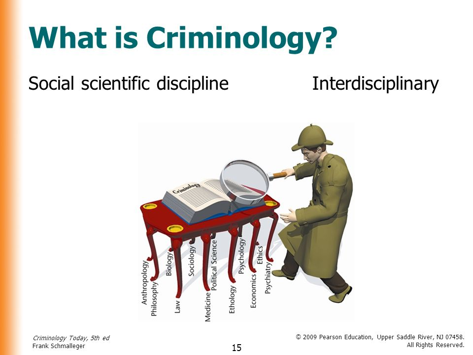 what is criminology Criminology is the scientific study of crime and criminals those who work in the field of criminology take interest in understanding the root causes of crime and the effects that crime has on society.