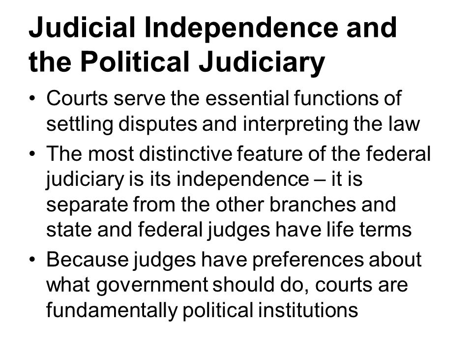 mobile courts and independence of judiciary The concept of judicial independence is supported by our statutes on the reappointment of judges section 51-44a of the general statutes, regarding evaluation by the judicial selection commission of judges for reappointment, states that, there shall be a presumption that each incumbent judge who seeks reappointment to the same court qualifies .