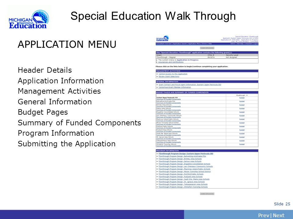 Special Education Walk Through
