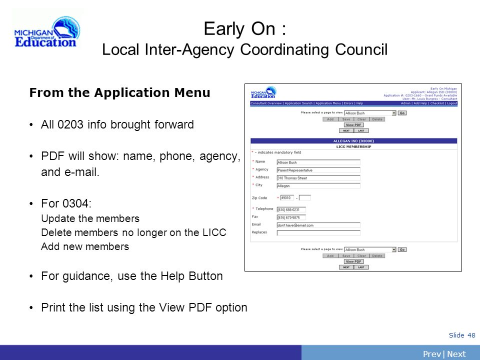 Early On : Local Inter-Agency Coordinating Council