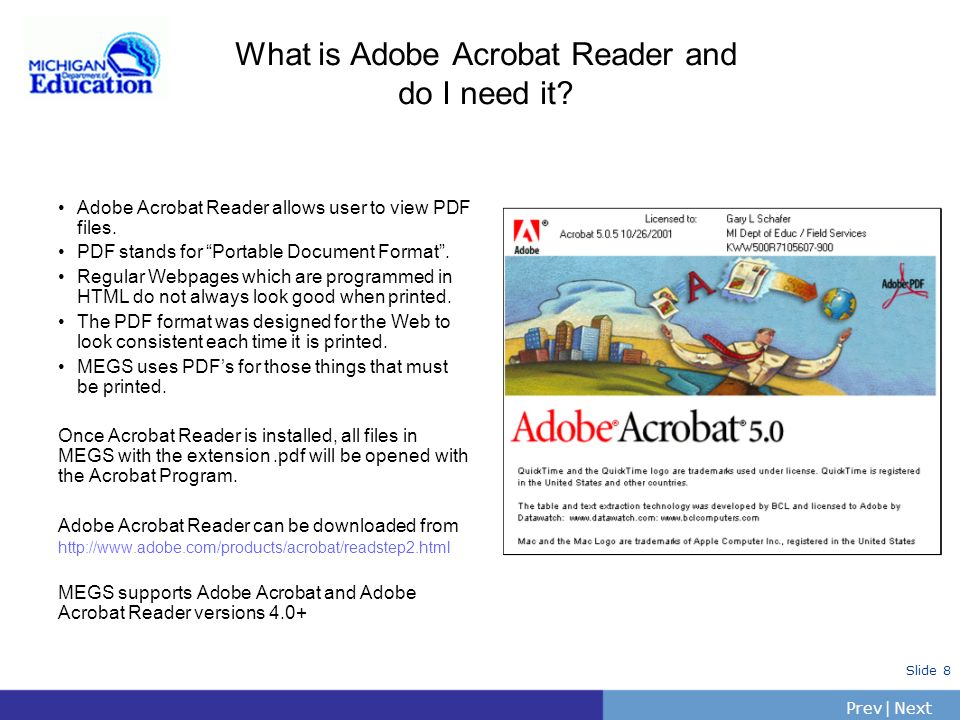 What is Adobe Acrobat Reader and do I need it