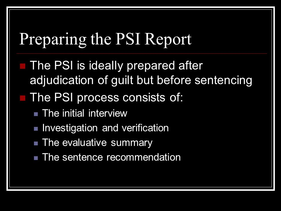 the sentencing process