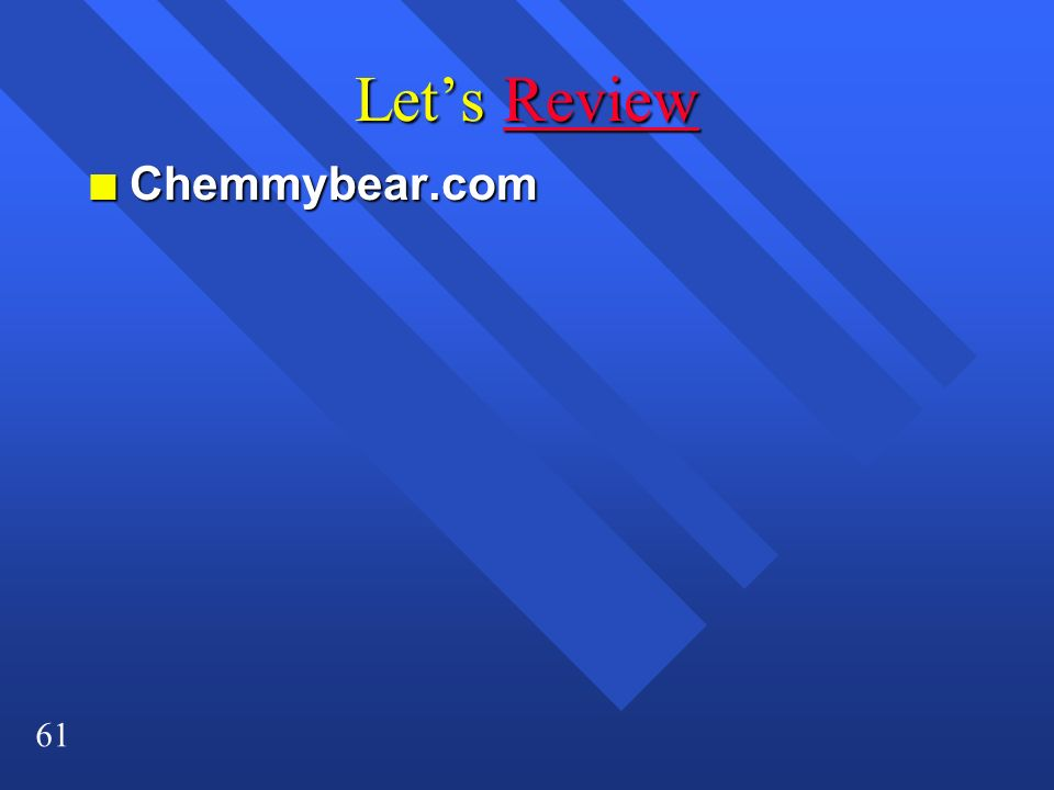 Let's Review Chemmybear.com