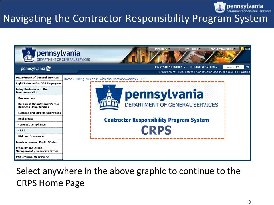 Navigating the Contractor Responsibility Program System