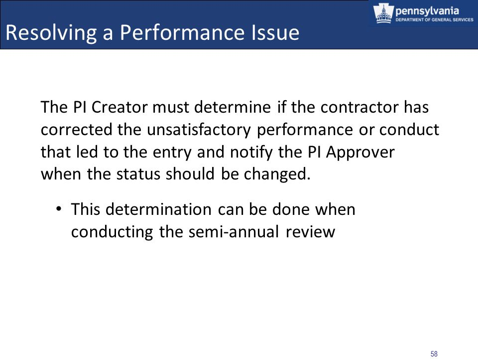 Resolving a Performance Issue