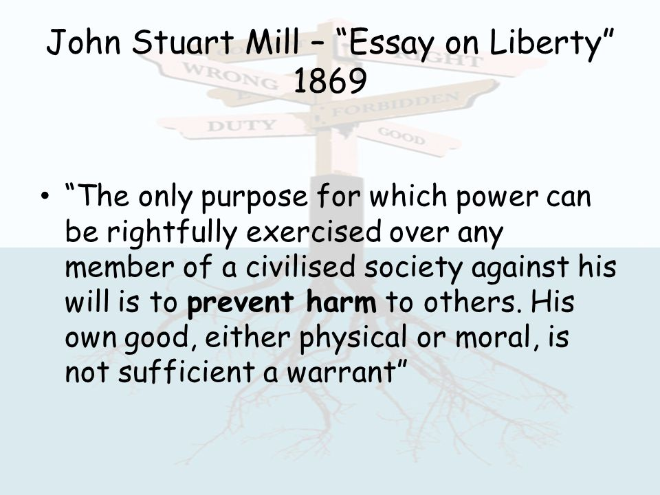 Js mill essay on liberty