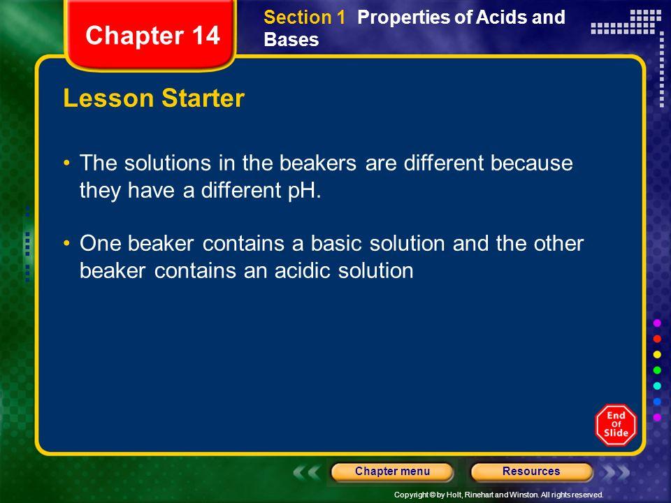 Chapter 14 Lesson Starter