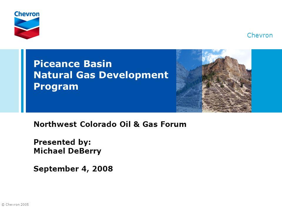 Piceance Basin Natural Gas Development Program