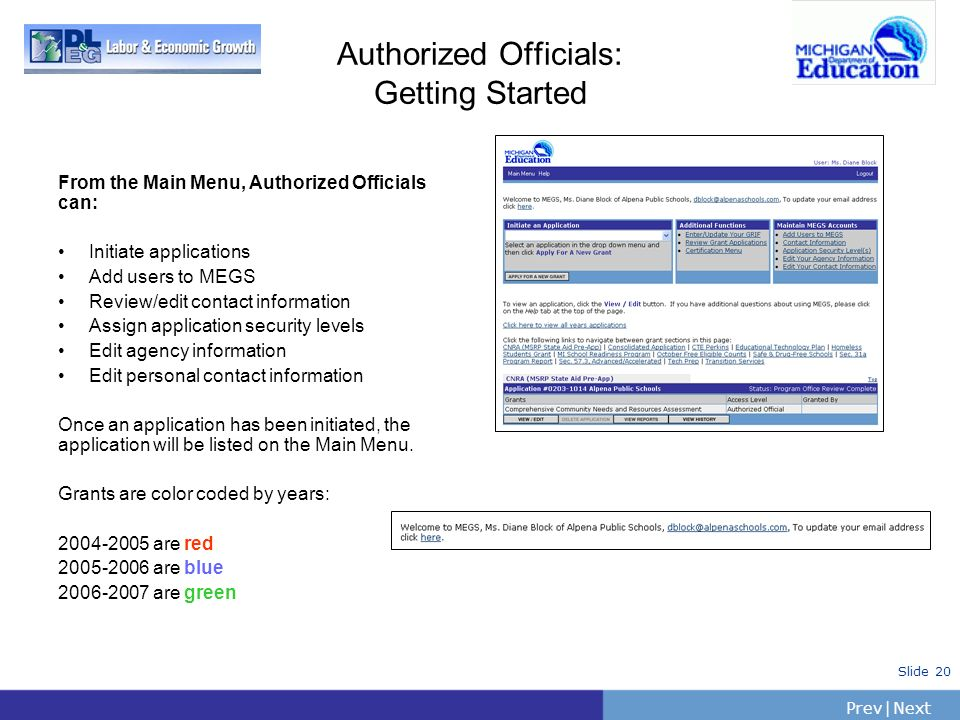 Authorized Officials: Getting Started