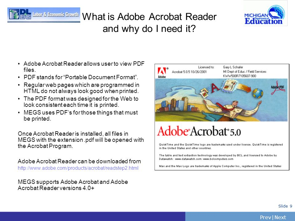 What is Adobe Acrobat Reader and why do I need it