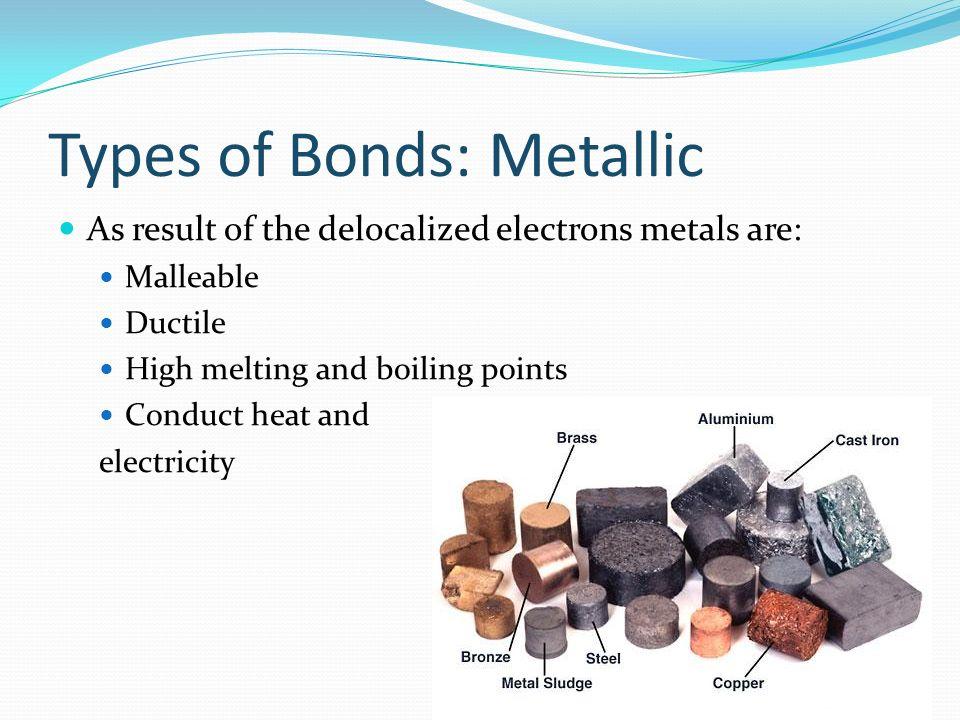 Types of Bonds: Metallic