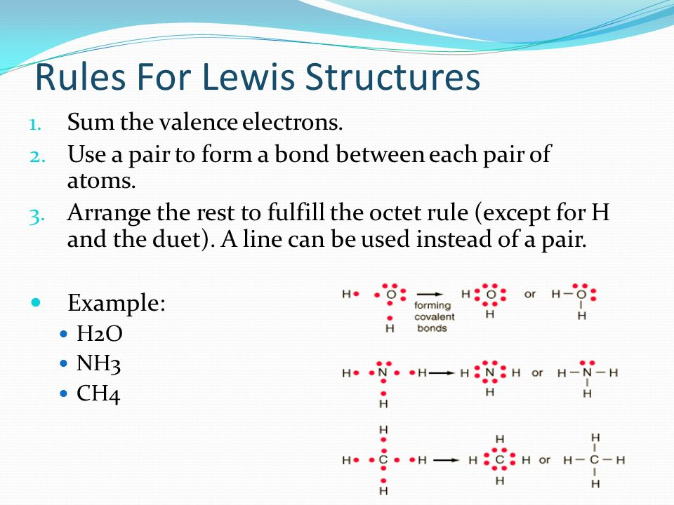 Rules For Lewis Structures