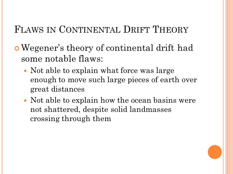 Flaws in Continental Drift Theory