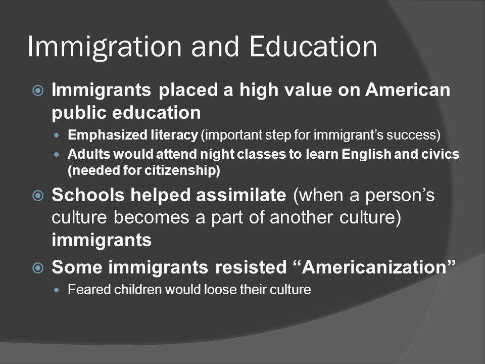 Immigration and Education