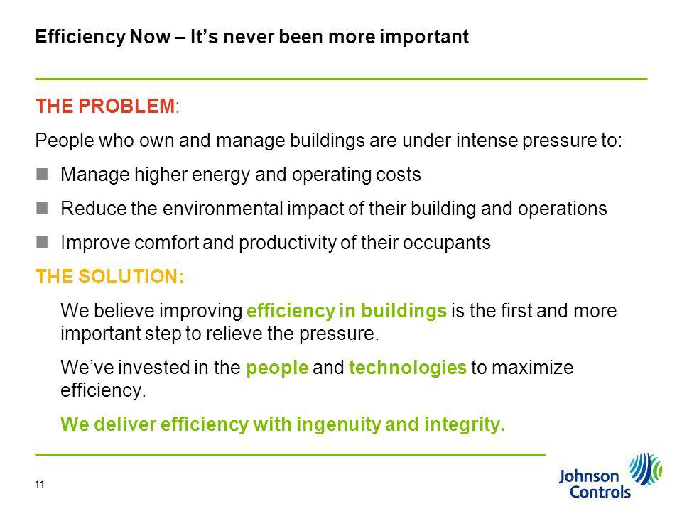 Efficiency Now – It's never been more important