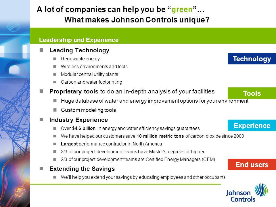 A lot of companies can help you be green …