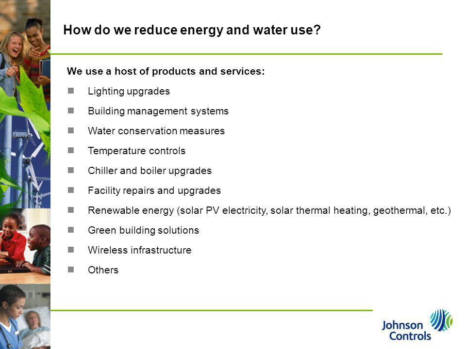 How do we reduce energy and water use