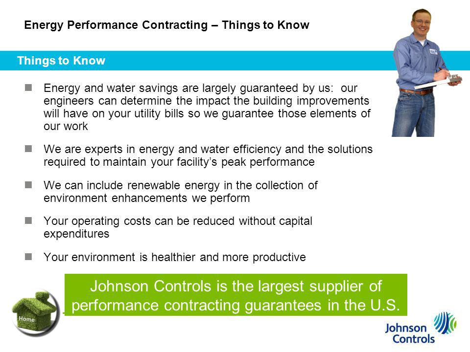 Energy Performance Contracting – Things to Know