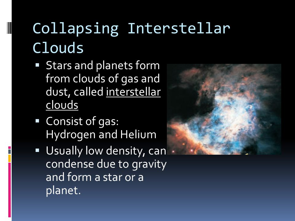 Collapsing Interstellar Clouds