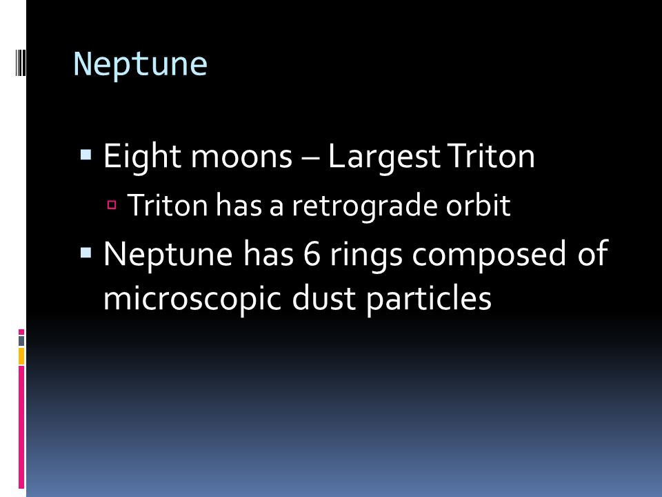 Eight moons – Largest Triton