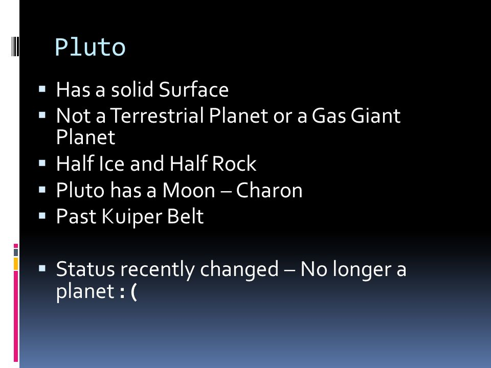 Pluto Has a solid Surface