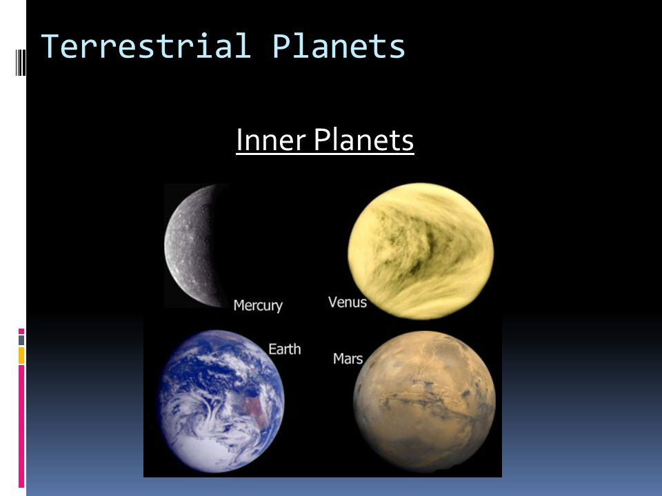 Terrestrial Planets Inner Planets